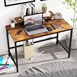 JOISCOPE Computer Desk, Laptop Desk with Storage Shelves ,Wood and Metal,Industrial Table for Home Office,47inches(Vintage Oak Finish)