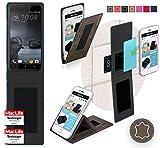 Hülle für HTC One X9 Tasche Cover Hülle Bumper | Braun Wildleder | Testsieger