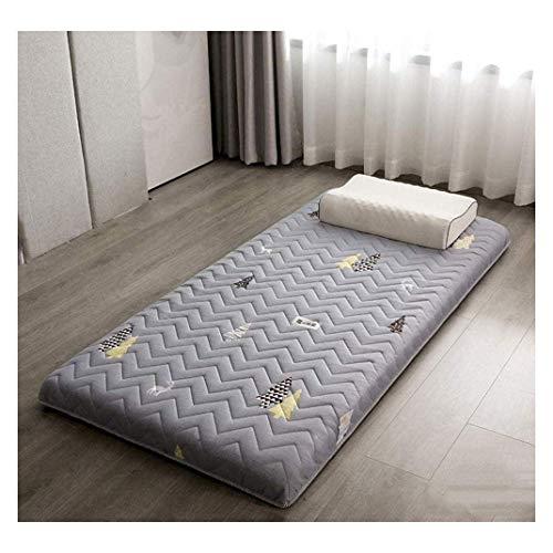 Alfombrilla Tatami tradicional japonesa para cama de dormir, estudiantes, colchón, gruesa, plegable, lavable, suave, enrollable, G-90 x 200 cm