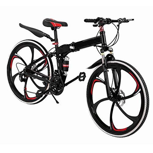 26in Moutain Bike 21 Speed Aluminum Full Suspension Road Bike Disc Brakes, 700c【Ship from USA】