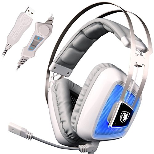 Sades Gaming-Headset A8 kompatibel für Desktop-Computer Handy Pad Xbox One Playstation 4 PS4 Nintendo Switch...