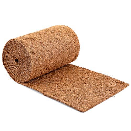 Kokosmatte aus 100% Kokosfasern, 0.4 * 5M Winterschutz für Pflanzen Kübelpflanzen pflanzenschutz Kälteschutz Nager-Teppich Nagerteppich Nagermatte Bodenbedeckung für haustür Kaninchen Ratten garten