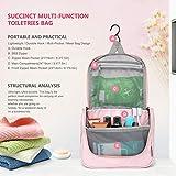 Mountaintop Kulturbeutel Kosmetiktasche Kulturtasche zum Aufhängen Toiletry Bag Waschtasche für Reise Urlaub, 24 x 9 x 19 cm (B - Pale Pink (L)) - 4
