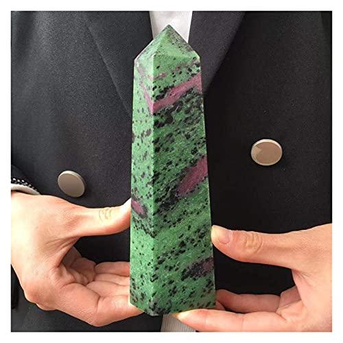 YSJJOSX Piedra Mineral Natural Punto de Cristal Natural Curación Reiki Varita Verde Rojo Paquete Rojo Obelisco Cristal Gema Decoración del hogar (Size : 900-1000g)