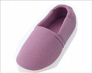 あゆみシューズ エスパド 紫 Mサイズ(22.0~23.0cm) 足囲3E相当 片足(右足) [室内用] 介護シューズ