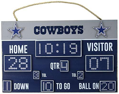 FOCO NFL Dallas Cowboys Unisex Scoreboard Signscoreboard Sign, Team Color, One Size