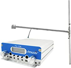 FMUSER FU-15A 10W 15W FM Broadcast Transmitter and Outdoor Antenna +Power Adapter KIT for Radio Audio Studio (15A+DP100)