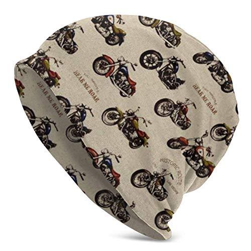 Yuanmeiju Motocicletas Gorro de Punto Slouchy Beanie Baggy Skull Cap Turbante All Seasons Sombrero para Unisex