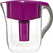 Brita Grand Water Filter Pitcher with 1 Replacement Filter, Violet, 10 Cup