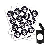 The DailyGrind Black Dawg Cali Pop Top Slap Pegatinas - 30 mm - x20
