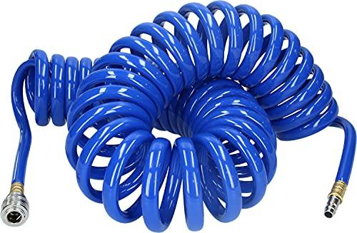 BRILLIANT TOOLS BT160035 Manguera en espiral para aire comprimido, diámetro 10 mm,...