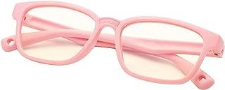 DeBuff Kids Blue Light Blocking Glasses Square Nerd Soft Eyeglasses Frame, UV400 Protection