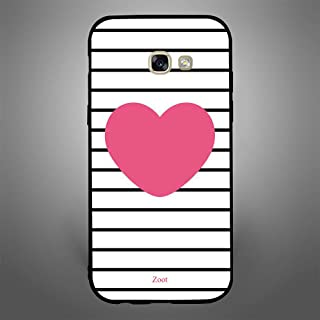 Samsung Galaxy A5 2017 Pink Heart stripes, Zoot Designer Phone Covers
