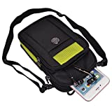Nylon Outdoor Sports Hiking Cellphone Travel Shoulder Bag Crossbody Pouch for iPhone 6 / 6S Plus/HTC One A9 / M9 / Microsoft Lumia 950 XL (Black/Green)
