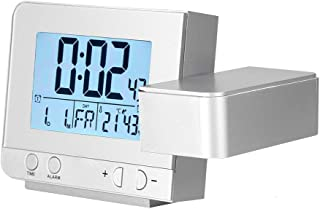 Projection Clock, LED Multifunction Projection Digital Alarm Clock with Time, Date and Week Display, Projection and near 1...