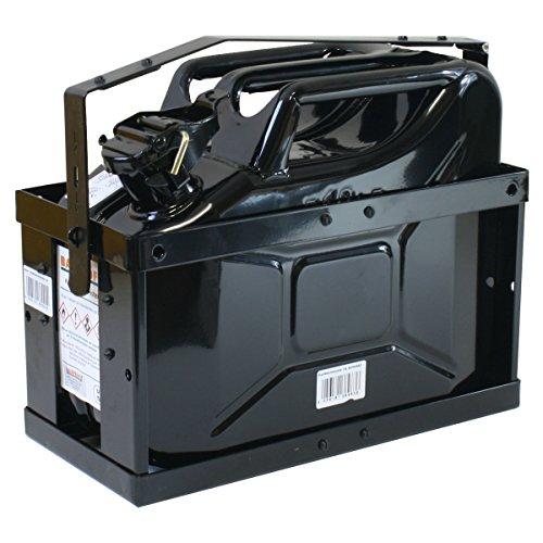 10 Liter Kanister schwarz mit Halterung und Sicherungsstift Stahlblechkanister Set