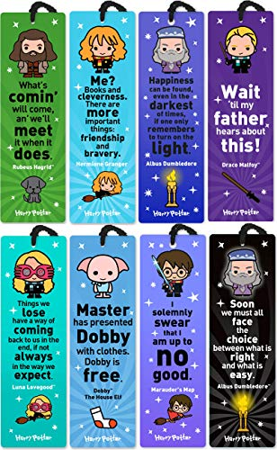 Price comparison product image Re-marks Harry Potter Gift Set Quotemark Collection of 8 Bookmarks - Includes Harry Potter,  Hermione Granger,  Dumbledore (2),  Draco Malfoy,  Dobby,  Rubeus Hagrid,  Luna Lovegood
