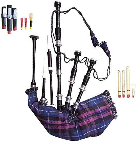 Dudelsack für Anfänger, Palisander mit silberfarbenen Halterungen, inkl. Tragetasche (Pride of Scotland)