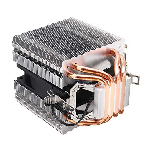 ZJYSM Tubos de Cobre cuaternario de 3 Pines Azul Retroiluminado CPU Escalofriante Ventilador para AMD para Intel 1155 1156 (Color : #1)