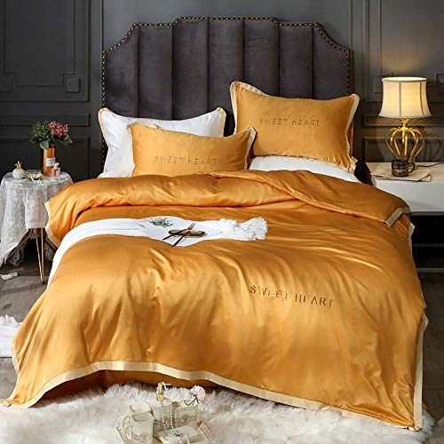 Fundas de edredón Juego de edredón tamaño queen completo Ropa de cama gris Juegos de cama de seda Juegos de cama de seda King Size Juegos de cama de color azul marino y blanco King Size Full Satin
