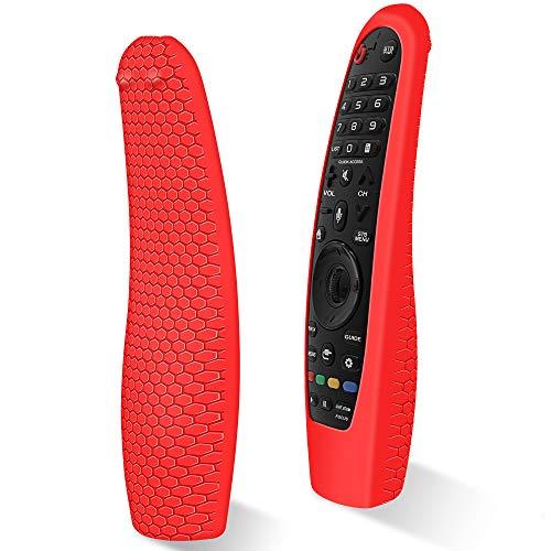 Custodia in Silicone Compatibile con LG Telecomando AN-MR18BA   AN-MR19BA  AN-MR20GA Smart TV Telecomando per LG Magic Magico Remote Protettiva Cover Anti-Scivolo Cassa Copertura (Rosso)