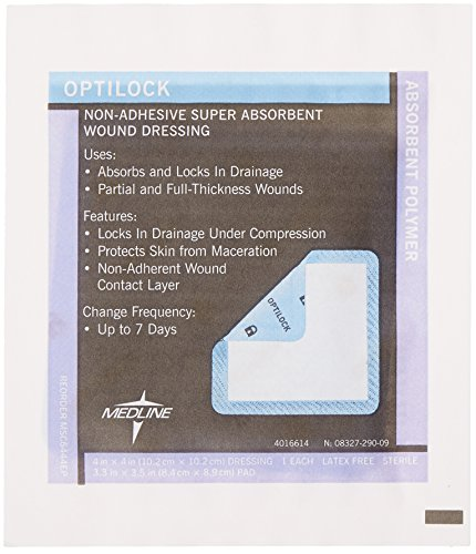Medline MSC6444EPZ OptiLock Non-Adhesive Dressings, 4