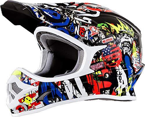 O\'NEAL 3 Series Rancid Motocross Enduro MTB Helm schwarz/Multi 2018 Oneal: Größe: L (59-60cm)
