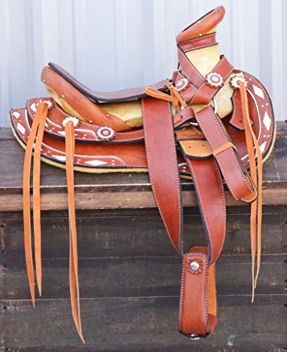 M-Royal Saddles 12'' Montura Pony Charra Kids Charro Western Pony Saddle Montura Silla Charra