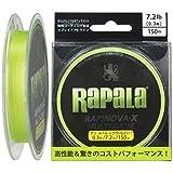Rapala(ラパラ) PEライン ラピノヴァX マルチゲーム 150m 0.3号 7.2lb 4本編み ライムグリーン RLX150M03LG