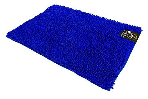 ADP Home - Alfombra shaggy microfibra (de 40x60cm), azul