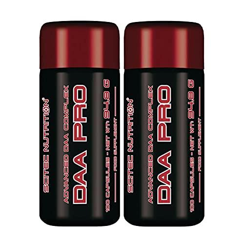 DAA PRO   Ácido D-aspártico   Potenciador de testosterona para hombres   Pastillas anabólicas para el crecimiento de la masa muscular (200 cápsulas)