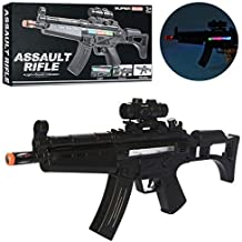 Jack Royal Light and Sound Army Style Machine Gun Assault Rifle Gun with Vibration - M-4 , 20 Inches Long PUBG Musical Toy...