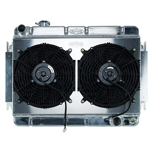 66-67 Chevelle Radiator and Dual 12in Fan Kit MT