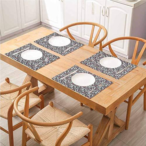 Lot de 4 sets de table rectangulaires lavables, style Art déco vintage dessin d'un motif avec sets de table pour restaurant et fête, style art déco