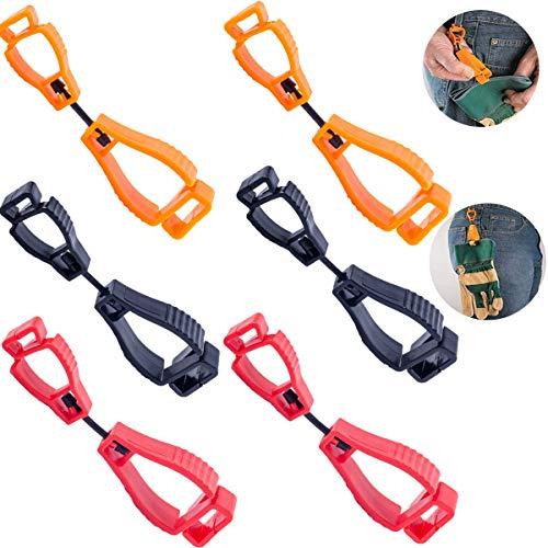 TANGGER 6 PCS Handschuh Clip Handschuhhalter Clip Feuerwehr Zum Tragen von Arbeitshandschuhen Rot Schwarz Orange