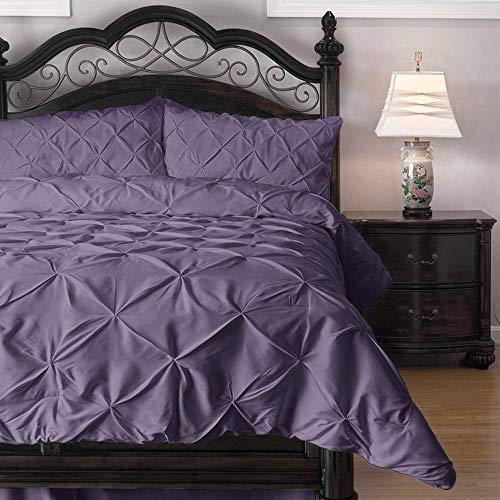 ExceptionalSheets Comforter Set - 3 Piece Down Alternative Comforters - Decorative Pinch Pleat Pintuck Design
