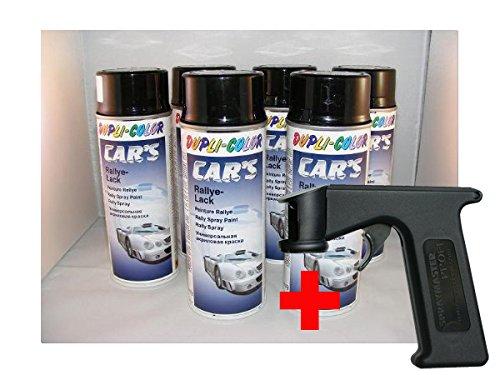 Dupli Color Car's, vernice nera lucida, 6 bombolette da 400 ml + pistola spray Spraymaster, Cars