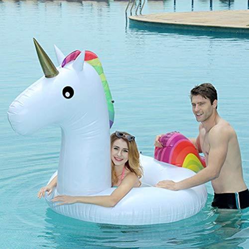 AimdonR - Salvagente Gonfiabile a Forma di Unicorno, con Galleggiante Gonfiabile, in PVC Kind