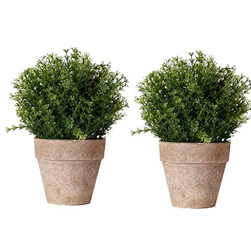 LXLTL Künstliche Pflanzen im Topf Gefälschte Daisy mit Eisen Eimer Pot Künstliche Blumen Gerbera Topfpflanzen Bonsai Kunstblumen 2 STK