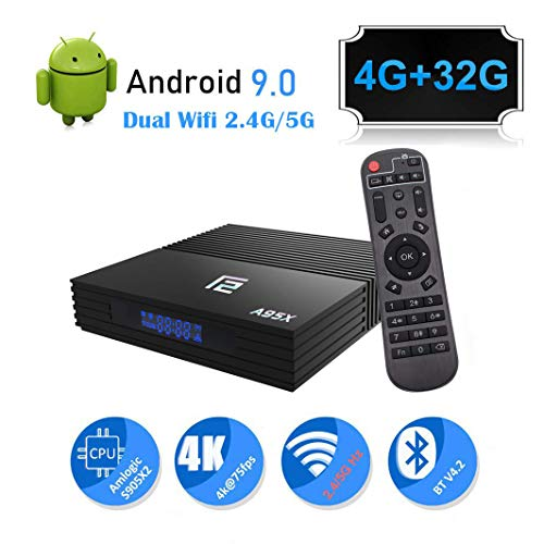 Android 9.0 TV Box A95X 4GB Ram 32GB ROM Smart 4K Android TV Box Amlogic S905 X2 CPU Support HDMI 2.1/H265 VP9 Video Decoding/Dual WiFi 2.4G 5.0G/100M Ethernet/Buletooth4.2/USB3.0 Android Box