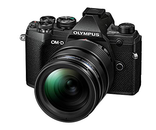 Olympus OM-D E-M5 Mark III Micro Four Thirds System Camera Kit (20 MP Sensor, 5-Axis Image Stabilisation, Powerful Autofocus, Electronic Viewfinder, 4K video, Wi-Fi), Black + 12-40mm M.Zuiko PRO Lens