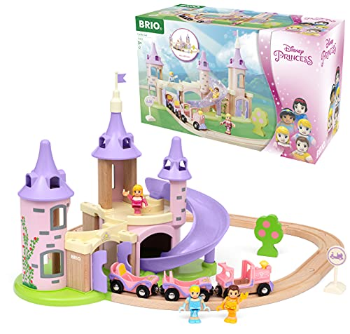 BRIO Disney Princess Castle Train Set for Kids Age 3 Years Up - Compatible with all BRIO Wooden Railway Sets & Accessories
