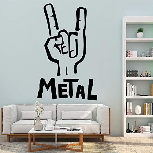hetingyue Metall benutzerdefinierte Aufkleber kreative Wandaufkleber Kunst Aufkleber 45x72cm