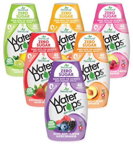 Sweetleaf Water Drops, Sweetened with Stevia,Water Enhancer, Mixed Pack of...