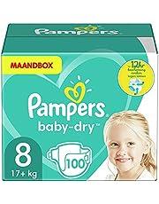 Pampers Baby-Dry Luiers, MAANDBOX, Tot 12 uur Bescherming rondom tegen Lekken