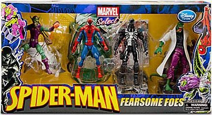 Marvel Select EXCLUSIVE Action Figure 4-Pack Fearsome Foes [Spider-Man, Lizard, Venom & Green Goblin]