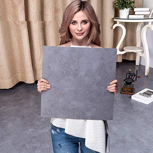 ipanda Baldosas autoadhesivas de mármol, diseño de azulejos de vinilo para suelos de salón, cocina, baño (5 unidades)