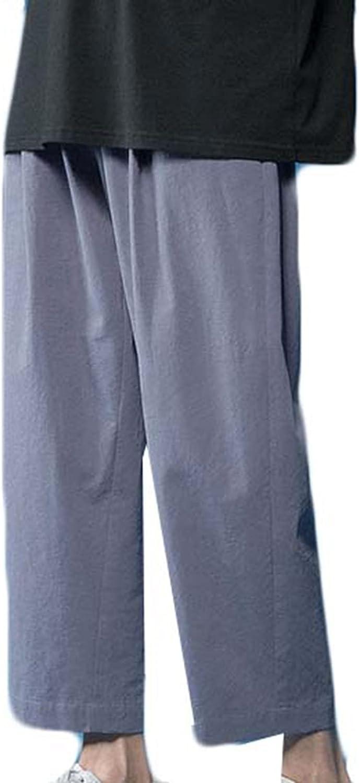Jogging Pants for Women Straight Loose Skin-Friendly Wear-Resistant Casual Pants Summer Wide-Leg Nine-Point Pants