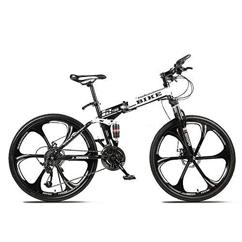 Novokart-Sport Pieghevole/Mountain Bike 26 Pollici 6 taglierina, Bianco