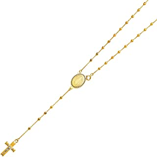 yellow gold rosary necklace